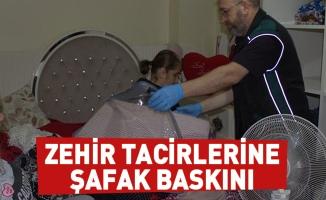 Bursa'da Narkotik ekiplerinin 300 kişiyle düzenlediği şafak baskınında 22 göz altı