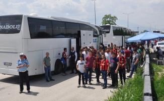 Final için Bursa'ya gelen taraftar ve otobüsler didik didik arandı