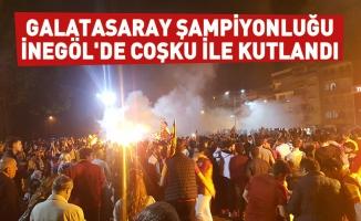 Galatasaray şampiyonluğu İnegöl'de coşku ile kutlandı