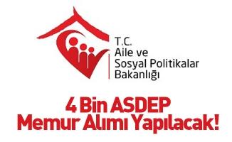 4 Bin ASDEP Memur Alımı Yapılacak!
