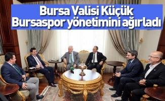 Bursa Valisi Küçük, Bursaspor yönetimini ağırladı