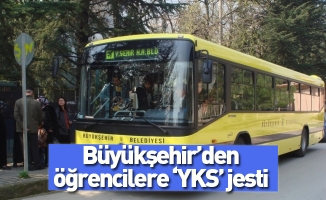 Büyükşehir'den öğrencilere 'YKS' jesti
