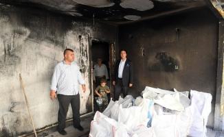 Evi yanan aileye Osmangazi sahip çıktı