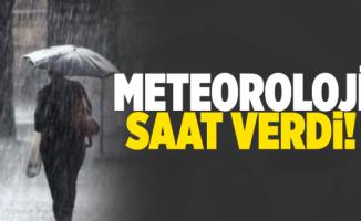 Meteoroloji Bursa için saat verdi
