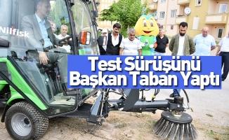 Test Sürüşünü Başkan Taban Yaptı