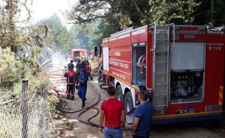 Uludağ'daki lüks villalar böyle yandı