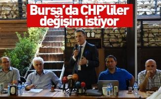 Bursa'da CHP'liler değişim istiyor