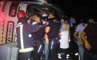 Bursa'da otobüs şarampole devrildi: