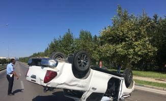 Bursa'da takla atan kamyonette 2 kişi yaralandı
