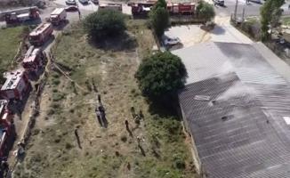 Hadımköy'de fabrikada asit kazanı patladı