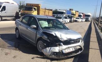 Akhisar kavşağında kaza