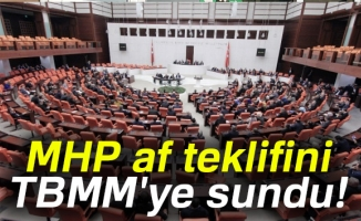 MHP, af teklifini TBMM'ye sundu!