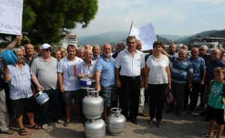 (Özel Haber) Tüplü doğalgaz protestosu