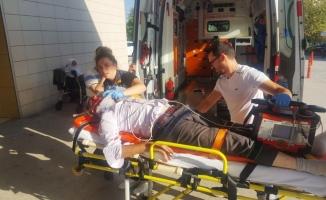 Hasta almaya giden ambulans hastanelik etti