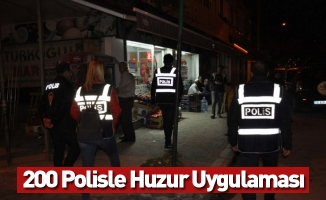 İnegöl'de 200 Polisle Huzur Uygulaması