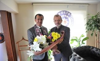 İnegölspor'dan Emniyet Müdürü Erçetin'e ziyaret