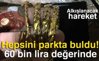 (Özel Haber) Parkta bulduğu 60 bin lira değerindeki altınları sahibine teslim etti