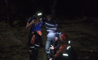 Uludağ'da kaybolan genç 4 saat sonra bulundu