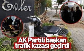 AK Partili başkan trafik kazası geçirdi