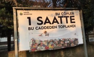 Belediye Çöpe Dikkat Çekti