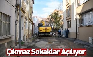 İnegöl'de Çıkmaz Sokaklar Açılıyor