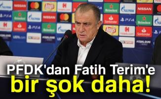 PFDK'dan Fatih Terim'e bir şok daha!