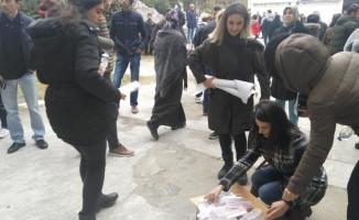 Sınav kalemleri köylerde okuyan öğrenciler için toplandı