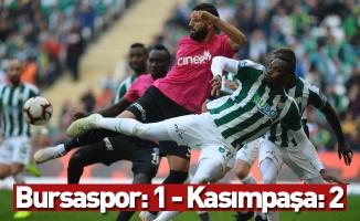 Spor Toto Süper Lig: Bursaspor: 1 - Kasımpaşa: 2