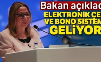 Bakan Pekcan: 'Elektronik çek ve bono sistemini en kısa zamanda işleme alacağız'