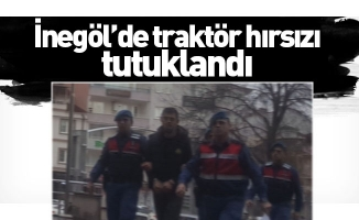 İnegöl'de traktör hırsızı tutuklandı