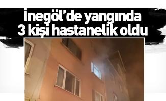 İnegöl'de yangında 3 kişi hastanelik oldu