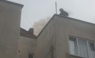 Sitede yangın paniği