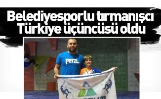 Belediyesporlu Tırmanışcı Türkiye Üçüncüsü Oldu