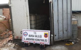 Bursa'da 11 ton kaçak akaryakıt ele geçirildi