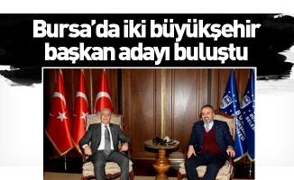 Bursa'da iki büyükşehir başkan adayı buluştu