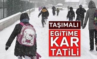İnegöl'de taşımalı eğitimde kar tatili