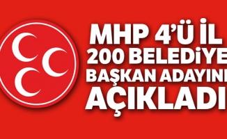 MHP Genel Merkezi 200 aday daha açıkladı