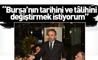 """Aktaş: """"Bursa'nın tarihini ve tâlihini değiştirmek istiyorum"""""""