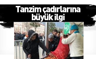 Bursa'da tanzim çadırlarına büyük ilgi