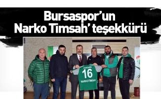 Bursaspor'un 'Narko Timsah' teşekkürü