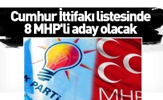 Cumhur İttifakı listesinde 8 MHP'li aday olacak