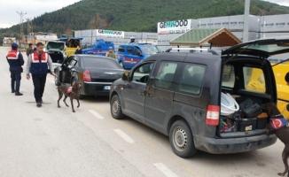 Jandarmadan droneli ve köpekli operasyon