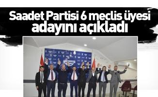 Saadet Partisi 6 meclis üyesi adayını açıkladı