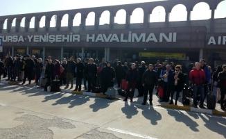 Uçaklar Yenişehir'e mecburî iniş yaptı