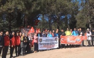 Bursalı dağcılar Çanakkale kahramanlarından Müstecip Onbaşı'yı unutmadı