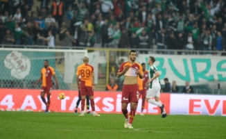 Spor Toto Süper Lig: Bursaspor: 2 - Galatasaray: 1 (İlk yarı)