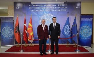 Uluslararası Vizyon Üniversitesi ile Balkan Üniversitesi arasında işbirliği