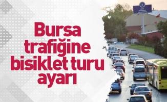 Bursa trafiğine bisiklet turu ayarı