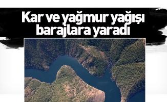 Bursa'da kar ve yağmur yağışı barajlara yaradı