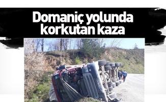 Domaniç yolunda korkutan kaza